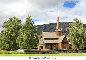 Ancient wood church - Ancient norwegian wood church, Norway