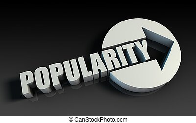 Popularity Concept With an Arrow Going Upwards 3D