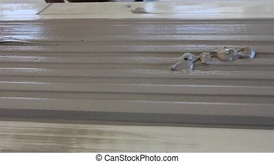 Moulding profile - Craftsmen made plaster moldings on the...