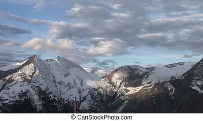 Groglockner Mountain, Alps, Austria - video footage of the...