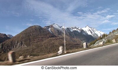 High Alpine Road Trip - video footage of driving on a high...