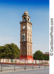Clock tower in the center of Mysore