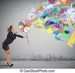 Creative business - Concept of creative business with color...