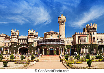 Bangalore palace - Garden and Bangalore king palace,...