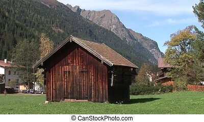 Hut, Mountains, Austria - video footage of a typically Hut...
