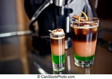 Cocktails with coffee liqueur