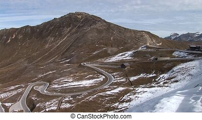 High Alpine Road - video footage of the high alpine road at...