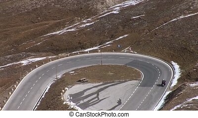 Mountain Road - video footage of the high alpine road at the...