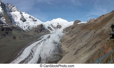Glacier, Austria, Alps - video footage of the glacier at the...