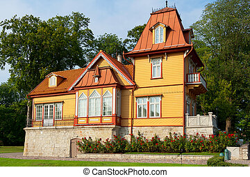 Wooden house Kuressaare, Estonia - Traditional wooden house...