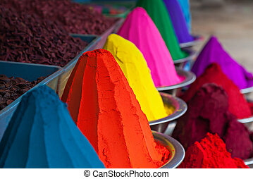 Color powder on the indian market, India