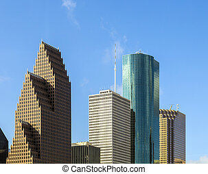 View on downtown Houston with skyscraper