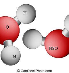 Formula of water. H2O.