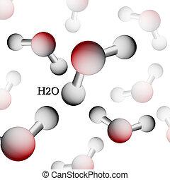 Formula of water. H2O