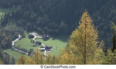 Valley, Alps, Austria - video footage of a Valley in the...