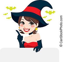 Brunette Halloween Witch
