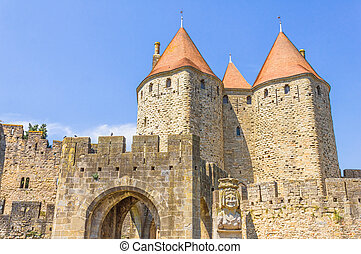 The medieval city of Carcassonne, France