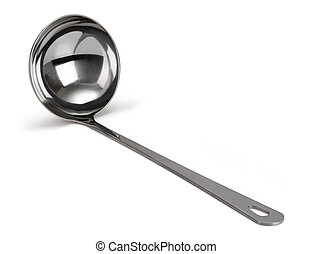 ladle on a white background