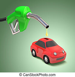 Saving Gasoline - Concept of saving gasoline with a drop...