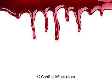 Halloween concept : Blood dripping