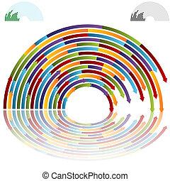 Rainbow Arch Arrows - An image of rainbow arch arrows.