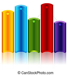 Varying Levels Chart - An image of a varying levels 3d...