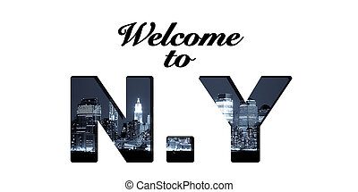 Welcome to New York text collage