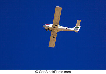 Airplane  - View of airplane in the blue sky