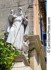 Christian Statue in Rabat - Ancient christian statue in...