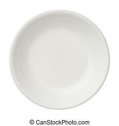 vazio, limpo, prato, isolado, branca, fundo, topo, vista