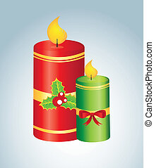 candles design over blue background vector illustartion