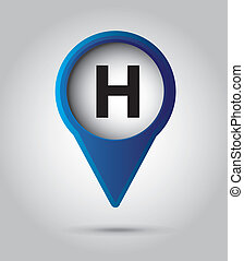 hotel signal - hotel signal over gray background, vector...