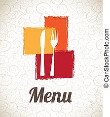 menu design over pattern background vector illustration