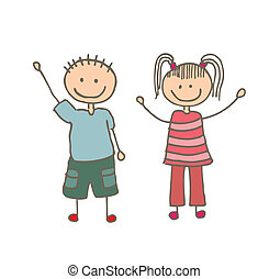 Kids design - kids design over white background vector...