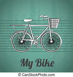 bicycle design over lineal background  vector illustration