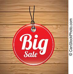 big sale design over wooden background vector illustration