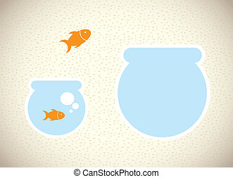 fish design over pattern background vector illustration