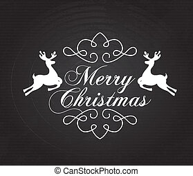 christmas reindeer - christmas reindeer over black...
