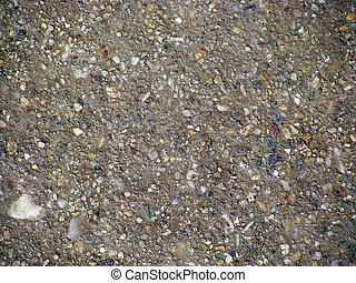 Concrete with gravel texture