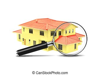 House and Magnifying Glass