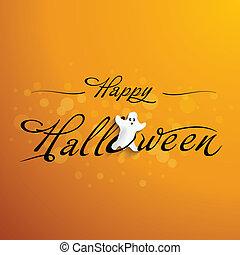 Halloween, Tipografía, divertido, gh