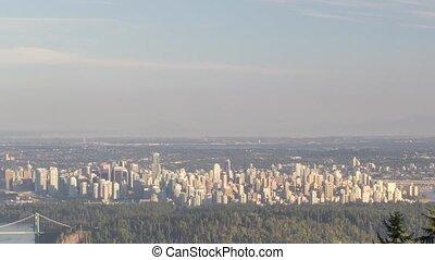 Cityscape in Vancouver BC Canada - Urban Scenic Cityscape...