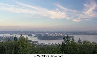 Vancouver BC Canada Landscape - Urban Scenic Cityscape View...