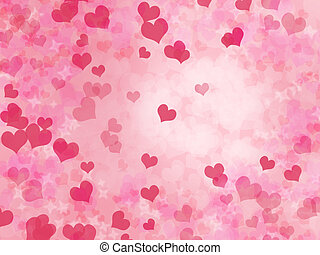 Valentine's day background with hearts - Abstract...