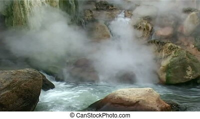 shore geysers - hot river of the geysers