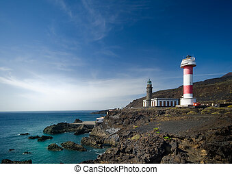 Light houses in El Faro, La Palma, canary islands, spain