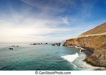 La Palma coast - beautiful coast in La Palma La zamora -...