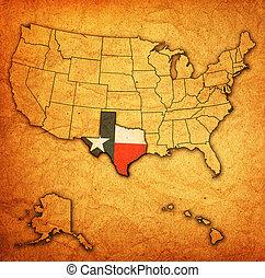 mapa,  Texas,  usa