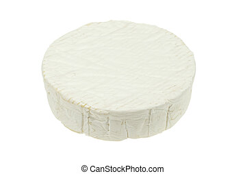 isolated camembert cheese - Round soft camembert cheese...
