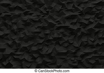 Abstract black background like crumbled paper with shadows